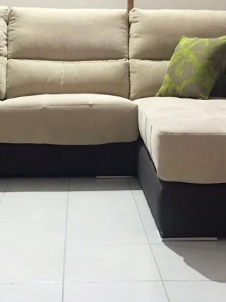 sofa beig:negro